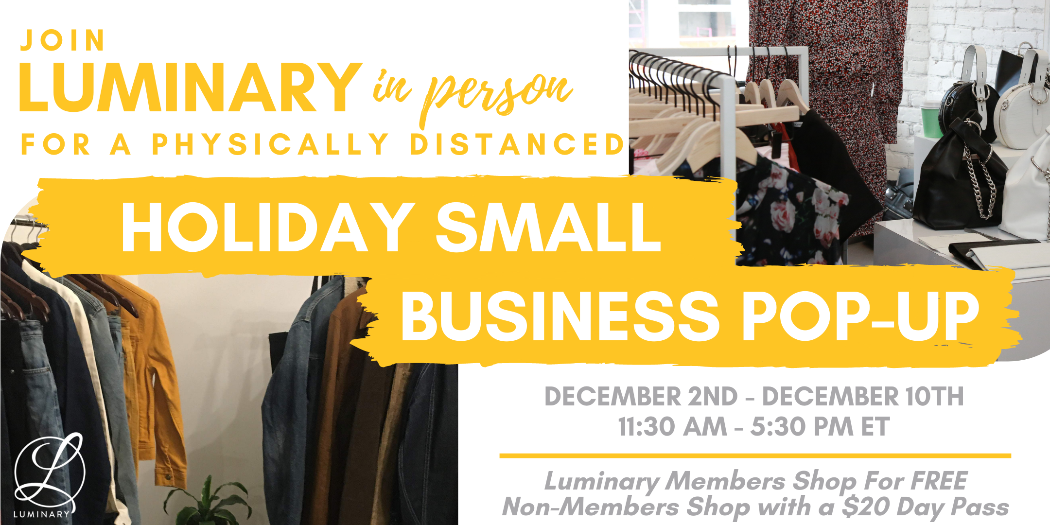 Luminary Holiday Pop-Up